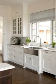 how to install stainless steel farmhouse sink kitchen with white cabinets and stainless steel farmhouse sink