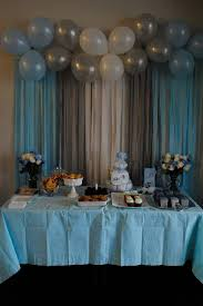 baby shower decorations for boy baby shower decorating ideas for boys grey blue white balloon