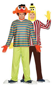 Bert Ernie Halloween Costume Couples Puppet Men Fancy Dress Costume Fancy Limited
