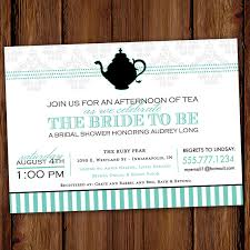 bridal shower tea party invitations printable bridal shower tea