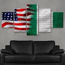 Nigerian Flag Hd Printed Limited Edition American Nigerian Nigeria Flag