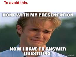 Intern Meme - final presentation of an internship with iim professor