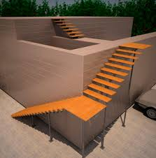 Plywood Stairs Design Central Stringer Staircase All Architecture And Design
