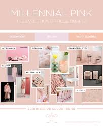 interior color trends 2018 millenial pink fashion interiors