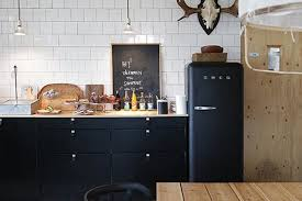 black accents in the kitchen apartment therapy