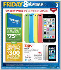 black friday iphone 6 deals walmart black friday full ad leaked 100 gift card with select