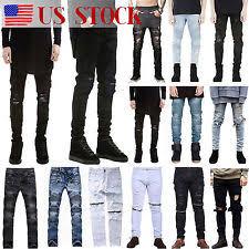 Mens Destroyed Skinny Jeans Mens Destroyed Jeans Ebay