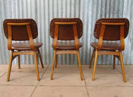 dutch mid century vinyl dining chairs set of 3 for sale at pamono