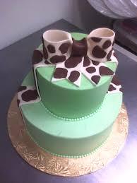 giraffe print shower cake main made custom cakes