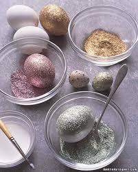 glitter easter eggs glittered eggs martha stewart