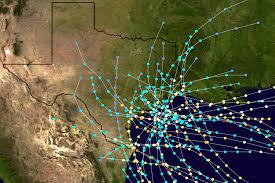 Hurricane Map List Of Texas Hurricanes Pre 1900 Wikipedia