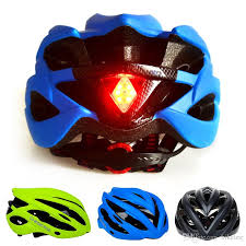 Motorcycle Helmet Lights 2017 Cycling Helmet Ultralight Bicycle Helmet With Led Tail Light