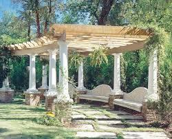 Brick Base Landscape Mediterranean With Columns Brick Outdoor