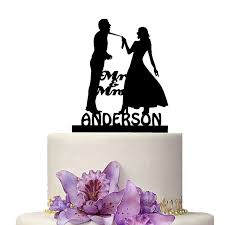custom wedding cake toppers personalize wedding cake topper mr mrs marriage decoration