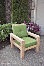 Diy Patio Furniture Plans Diy Modern Rustic Outdoor Chair Plans Using Outdoor Cushions From