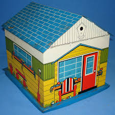 garage houses vintage tin litho toy super garage doll house accessory