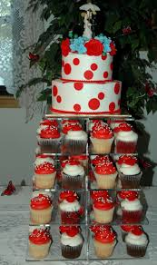 Cupcake Wedding Cake Wedding Cakes Red Black And White Wedding Cakes With Roses Red