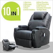 Ergonomic Recliner Chair Amazon Com Recliner Genius Massage Recliner Chair Leather Heated