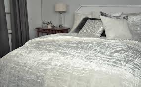 kevin o u0027brien studio bedding hand white knotted velvet quilt