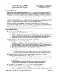 resume of pmp certified project manager resume ideas