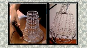 How To Make Crystal Chandelier Diy Crystal Chandelier Youtube