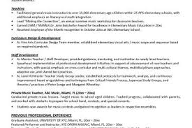 Music Teacher Resume Examples by Pin Sample Music Resume For College Application On Pinterest