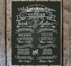 chalkboard program wedding chalkboard wedding program sign printable wedding program