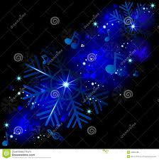 glowing music notes with winter snowflakes stock vector image
