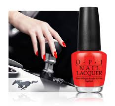 opi shifts things up with a ford mustang u0027race red u0027 nail lacquer