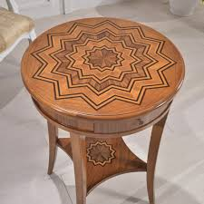 soave signoretto tondo inlaid coffee table made in italy