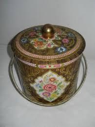 Antiques Decorative Antiques Decorative Tins Antique Hand Painted Tole Tin Lined