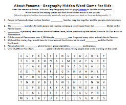 image of panama worksheet fun geography worksheets for kids