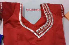 blouse designs images collection patch work blouse designs back side the