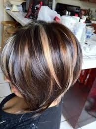 bolnde highlights and lowlights on bob haircut brown hair with carmel and blonde highlights regia dark brown y