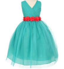 teal tulle buy a jade green flower girl dress for weddings or formal occasion