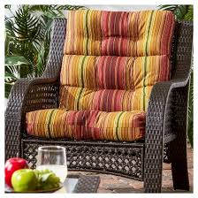 22 Inch Outdoor Chair Cushions Greendale Home Fashions Outdoor High Back Chair Cushion Target
