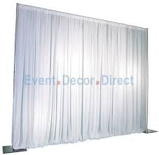 Wedding Drapes For Rent Diy Project For Jt 1 Panel Pipe And Drape Kit Backdrop 6 10