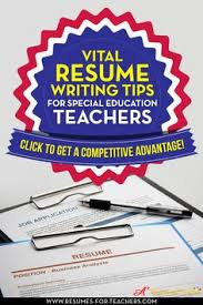How To Write A Resume For Education Jobs by How To Write A Special Education Teacher Resume Or Cv Curriculum