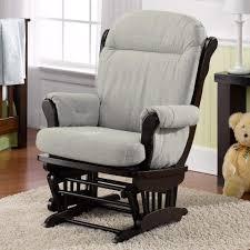 Rocking Chair For Breastfeeding Best Chairs Charleston Glider Espresso Wood Dove Fabric Babies