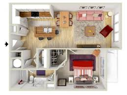 Floor Plan Apartment Design 1 Bedroom Tuscan Floor Plan 3d Rendering Brand New