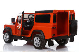 orange land rover discovery ride on range rover style 12v electric jeep
