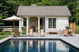 open floor plan pool house