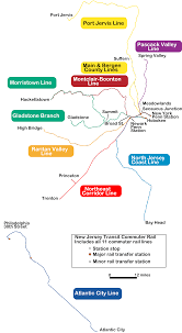 Nj Train Map New Jersey Transit Rail Operations