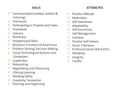 the difference between skills and attributes employability