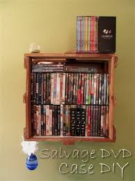 salvage dvd shelf storage diy