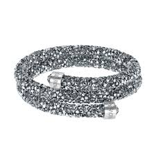 double bangle bracelet images Swarovski crystal dust gray crystal double bangle bracelet in jpg