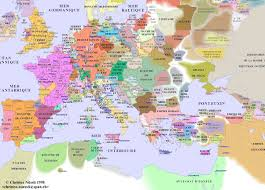 The Map Of Europe by Decameron Web Maps