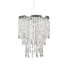 Tadpole Chandeliers by Amazon Com Tadpoles Faux Crystal Triple Layer Dangling Pendant