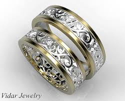 matching wedding band sets his ans matching wedding band set diamond wedding band set