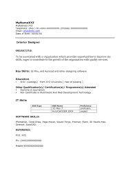 interior design resume objective interior design resume objective